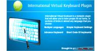 Virtual international keyboard plugin