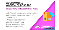 Wholesale woocommerce pricing pro