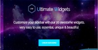 Widgets ultimate wordpress plugin