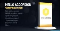 Accordion hello wordpress widget
