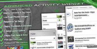Activity advanced widget