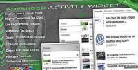 Activity advanced widget