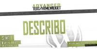 Advanced describo widget html text