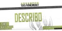 Advanced describo widget html text