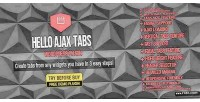 Ajax hello widget wordpress tabs
