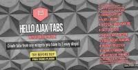 Ajax hello widget wordpress tabs