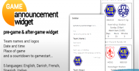Announcement game widget
