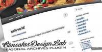 Archives seasonal wp plugin