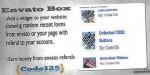 Box envato wp widget