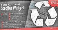 Content 5sec scroller widget