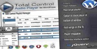 Total control html5 audio wordpress for player