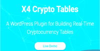 Crypto x4 plugin wordpress tables