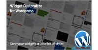 Customizer widget for wordpress