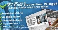 M7 easy accordion menus wordpress for widget