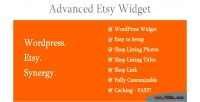 Etsy advanced widget
