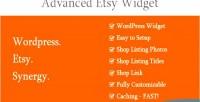 Etsy advanced widget