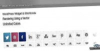 Font web social shortcode widget icons