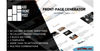 Front add post plugin wordpress generator page front