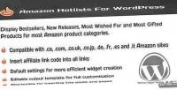 Hotlists amazon for wordpress
