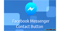 Messenger facebook contact button