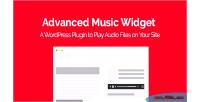 Music advanced plugin wordpress widget