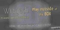 Play widgedi outside box. the of
