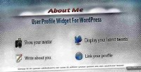 User profile widget for me about wordpress