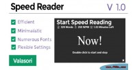 Reader speed