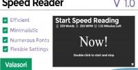 Reader speed