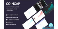 Realtime coincap cryptocurrency captalization market wordpress for shortcode