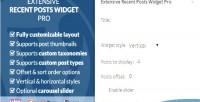 Recent extensive pro widget posts