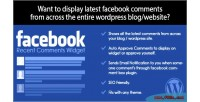 Recent facebook comments wordpress for widget