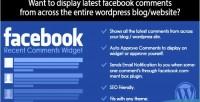 Recent facebook comments wordpress for widget