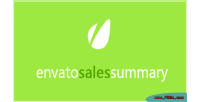 Sales envato summary plugin