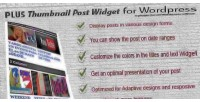 Thumbnail plus post plugin premium widget