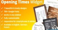 Time opening widget
