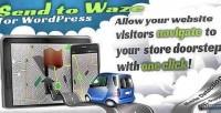 To send widget wordpress waze