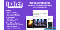Twitch wordpress shortcode & widget