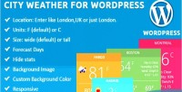 Weather city for wordpress