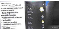 Weather wordpress forecast widget