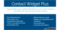 Widget contact wordpress for plus