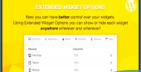 Widget extended wordpress for options