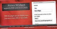 Widget news for wordpress