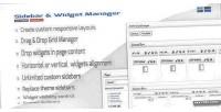 Widget sidebar wordpress for manager