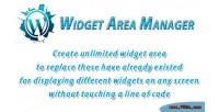 Widget wordpress area manager