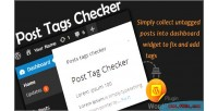 Wordpress post tags checker widget dashboard