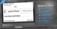 Wordpress customizable restaurant menu