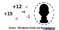 Wordpress karma rewards & points