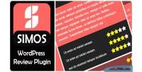 Wordpress simos review plugin