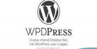 Wordpress wpd dropbox